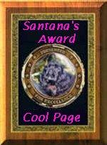 Santana's Award